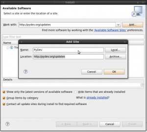 Instalar y configurar Eclipse para trabajar con OpenERP
