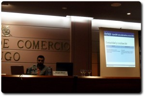 Angel Moya en las Jornadas OpenERP Spain Lugo 2011